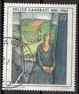 "Italia 1986 Uf. 1800 ""Daphne A Pavarolo"" Quadro Dipinto Da F. Casorati Paintings Used - Modernos"