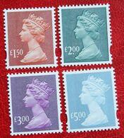 Machin QE II Definitives £ High Values (Mi 2136-2139) 2003 POSTFRIS MNH ** ENGLAND GRANDE-BRETAGNE GB GREAT BRITAIN - 1952-.... (Elizabeth II)