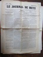Le Journal De Metz  28 Aout 1870 1page - Giornali
