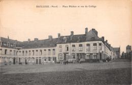 R413041 Bailleul. Nord. Place Plichon Et Rue Du College. E. Le Deley - Ansichtskarten