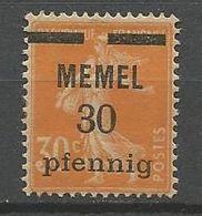MEMEL N° 21 PAPIER GC NEUF*   CHARNIERE  / MH - Memel (1920-1924)