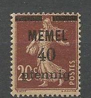 MEMEL N° 22 PAPIER GC NEUF*   CHARNIERE  / MH - Memel (1920-1924)