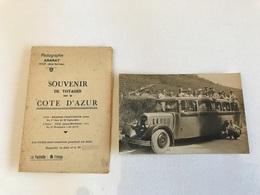 CPA PHOTO & Pochette ARARAT NICE - Autobus Citroen & Voyageurs GRANDE CHARTREUSE - 1935 - Chartreuse
