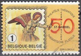 Belgique 2008 COB 3830 O Cote (2016) 1.00 Euro Journée Du Timbre Cercle Saint-Gabriel Cachet Rond - Belgium