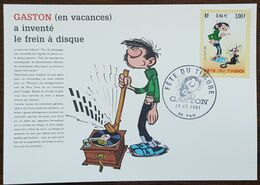 CM 2001 - YT N°3370 - Fête Du Timbre / Gaston Lagaffe - Pau - Cartas Máxima
