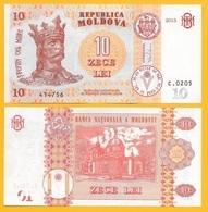 Moldova 10 Lei P-22 2015 UNC - Moldawien (Moldau)