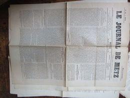 Le Journal De METZ Du 11 Oct 1870  1 Page Déchirure  Sans Manque - Giornali