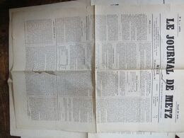 Le Journal De METZ Du 29 Aout  1870  1 Page Déchirure  Sans Manque - Giornali