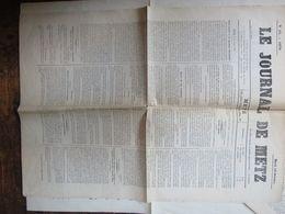 Le Journal De METZ Du 18 Oct  1870  1 Page - Giornali