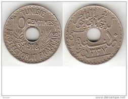 Tunesia 10 Centimes 1918 Km 243  Xf !!! - Tunisia