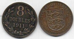2 Pièces  GUERNESEY  1911 Et JERSEY 1937 - Monnaies Régionales