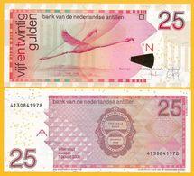 Netherlands Antilles 25 Gulden P-29e 2008 UNC Banknote - Nederlandse Antillen (...-1986)