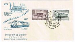 Argentinien 1957, Michel# 659 - 660 O 100 Jahre Eisenbahn - Trains