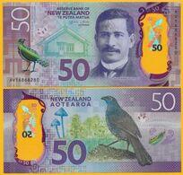 New Zealand 50 Dollars P-194 2016 UNC Polymer Banknote - New Zealand