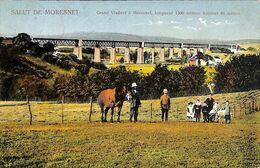 Salut De Moresnet - Grand Viaduct (animée Colorisée Cheval 1921) - Plombières