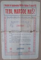 1920 YUGOSLAVIA, SLOVENIA, MARIBOR, SLOVENIA SOKOL I POKRAJINSKI ZLET JUGOSLOVENSKEGA SOKOLSTVA V MARIBORU - Programs
