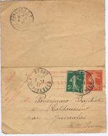 HAUTES-PYRENEES - Cachet Manuel BENAC Du 3 -1  17 + Cachet JUNCALAS ( 65 ) + Entier Postal - Poststempel (Briefe)