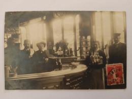 TOP CPA PHOTO, MAISON EMILE, 93 CHEMIN LATÉRAL DU SUD, LA VARENNE, CAFÉ COMMERCE, BAR, SERVEUR, FACTEUR? PRÈS CHAMPIGNY - Cafes