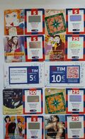 ITALIA-(ITALY)-TIM -LOTTO 10  SCHEDE - Schede GSM, Prepagate & Ricariche