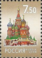 Russia 2008 - One Pokrovsk Cathedral Vasily Blessed Temple Architecture Building Religions Places Stamp MNH Michel 1472 - Churches & Cathedrals