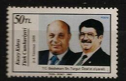 Turquie Chypre Turc RTCN 1987 N° 202 ** Ministre, Turgut Özal, Rauf Denktaş, Procureur à La Cour, Justice, Président - Chypre (Turquie)