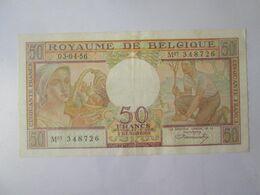 Belgium/Belgique 50 Francs/Frank 1956 Banknote - [ 2] 1831-... : Royaume De Belgique