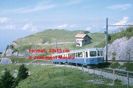 Reproduction D'unePhotographie D'un Train ARB Chemin De Fer à Crémaillère à Rigi En Suisse En 1972 - Reproducciones