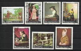 Kingdom Of Yemen 1968, Famous Paintings (Vermeer - Perry Jr. - Copley - Aylward - Sessions - Goya - Chardin) (o), CTO - Yemen