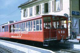 Reproduction D'unePhotographie D'un Train VRB Chemin De Fer à Crémaillère à Rigi En Suisse En 1972 - Riproduzioni