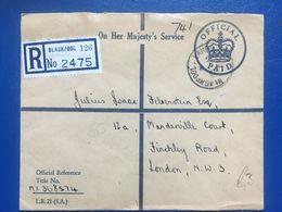 GB Elizabeth Period Registered Blackpool Cover On Official Paid Envelope - Land Registry - Briefe U. Dokumente