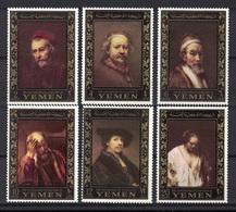 Kingdom Of Yemen 1967, Portraits Of / From Rembrandt Van Rijn - Amphilex Amsterdam **, MNH - Yemen