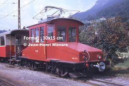 Reproduction D'unePhotographie D'une Locomotive CEV Chemin De Fer Veveysans à Blonay En Suisse En 1973 - Reproducciones