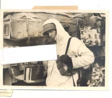 Photo ORIGINALE - Guerre 40/45 -  9e US ARMY .- En Communication Avec Des Chars Britanniques BRACHELEM En 1945 - 1939-45