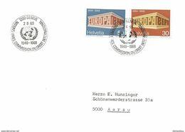 """206 - 47 - Enveloppe Avec Oblit Spéciale """"Genève Nations Unies Commission Du Droit International 1969"""" - Marcophilie"""