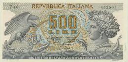 ITALY  P. 93a 500 L 1966 UNC - [ 2] 1946-… : Repubblica