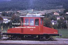 Reproduction D'unePhotographie D'une Locomotive CEV Te82 Chemin De Fer Veveysans à Blonay En Suisse En 1973 - Riproduzioni
