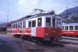 Reproduction D'unePhotographie D'un Train CEV Chemin De Fer Veveysans à Blonay En Suisse En 1973 - Riproduzioni
