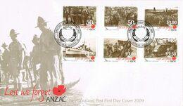 37305. Carta F.D.C. WANGANUI (New Zealand)  2009. Military Stamp. ANZAC - FDC