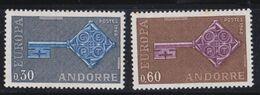 EUROPA ANDORRE FRANCAIS :  Yvert  188 189   Neuf XX  Cote 35 € - Europa-CEPT