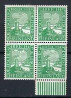 ALLEMAGNE 1925:  Bloc De 4 Du Y&T 365 Neufs* (2 TP Du Haut) Et Neufs** (2 TP Du Bas) - Ongebruikt
