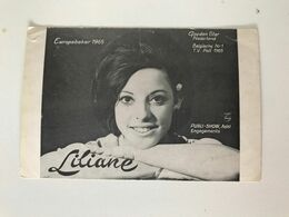 Ancienne Photographie Europabeker 1965 LILIANE Publi-Show Aalst Engagements - Repro's