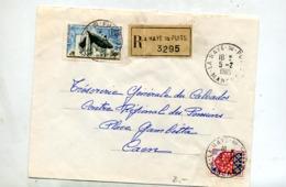 Lettre Recommandée La Haye Du Puits Sur Ronchamp - Poststempel (Briefe)