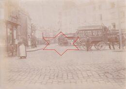 Photo Vers 1900 ROUEN - Place De L'église Saint-Sever, Omnibus (A223) - Rouen