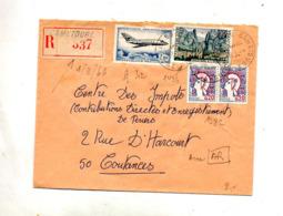 Lettre Recommandée Cametours Sur Moustiers Semeuse Coty Mystere - Poststempel (Briefe)
