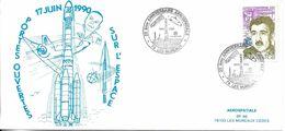 Carte Journée Portes Ouvertes Sur L'espace 17.06.1990 Aérospatiale BP 96 78133 Les Mureaux Cedex - 1990-1999