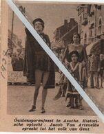 ASSCHE..1937.. GULDENSPORENFEEST TE ASSCHE JACOB VAN ARTEVELDE - Alte Papiere