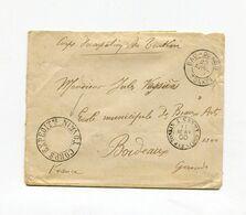 !!! INDOCHINE, LETTRE DU 23/4/1900 POUR BORDEAUX, CACHETS CORPS EXP DU TONKIN ET BAO-QUANG TONKIN - Storia Postale
