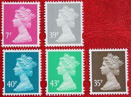 Machin QE II Definitives 7p 35p 39p 40p 43p (Mi 2202-2206) 2004 POSTFRIS MNH ** ENGLAND GRANDE-BRETAGNE GB GREAT BRITAIN - 1952-.... (Elizabeth II)