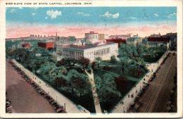 Ohio Columbus Birds Eye View Of State Capitol 1922 - Columbus