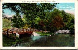Ohio Columbus Washington Park Rustic Bridge1929 - Columbus